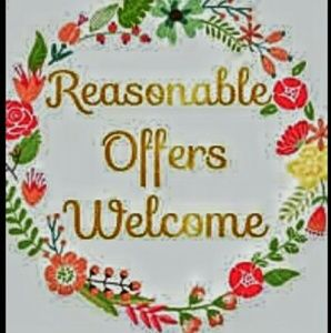 All reasonable offers considered!!!